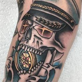 Tattoos - Sailor Skull - 142412