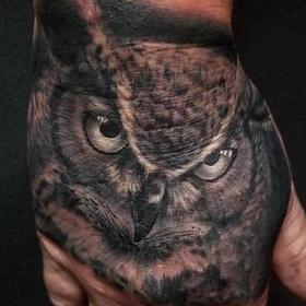 Tattoos - Horned Owl - 142432