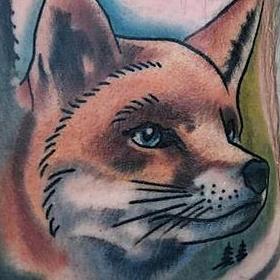 Tattoos - Color Fox Tattoo - 113667