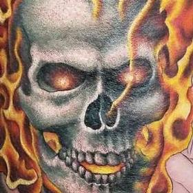 Tattoos - Color Ghostrider Tattoo - 117324