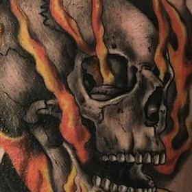 Tattoos - Color Ghostrider Tattoo - 133935