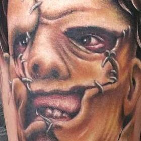 Tattoos - Color Leatherface Portrait - 114087