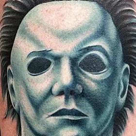 Tattoos - Color Portrait -Michael Myers Tattoo - 115452