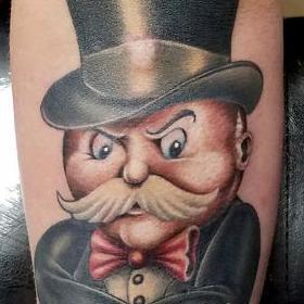 Tattoos - Color Monopoly Man Tattoo - 119873