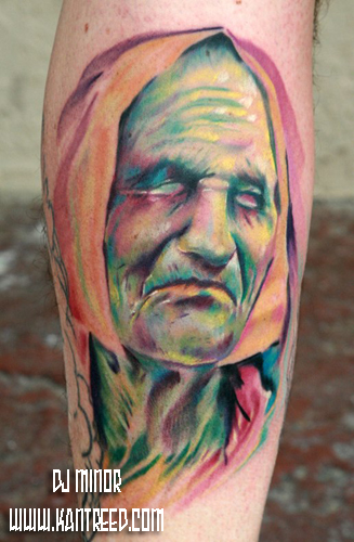 Collab with Kyle Cotterman and Billy Jack on Mel D Tattoo Design