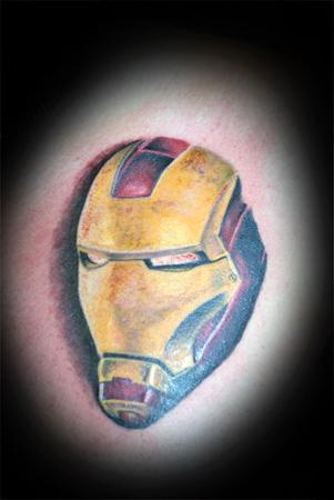 Tattoos - realitic color ironman tattoo - 56696