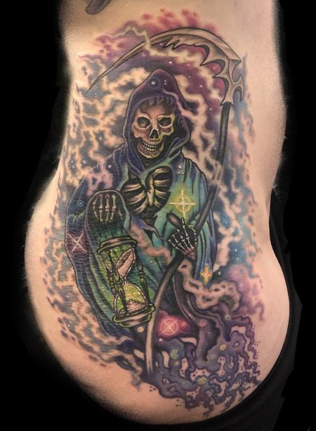 Cosmic Color Grim Reaper Tattoo Tattoo Design
