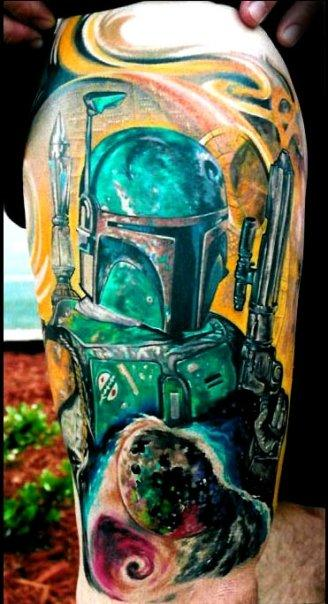 Boba Fett Tattoo Design Thumbnail