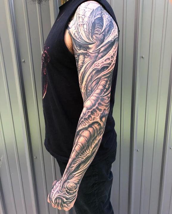 Guy Aitchison - Full Bio Sleeve Tattoo