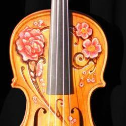 Tattoos - Decorated violin by Michele Wortman and Guy Aitchison - 72633
