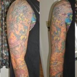 Tattoos - Scott, full sleeve after 4 laser sessions - 71553