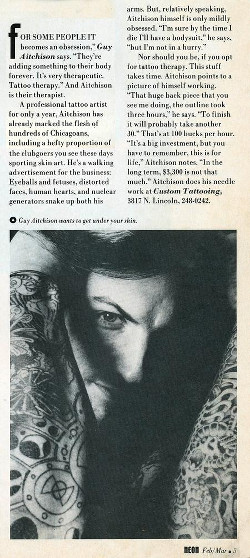 Tattoos - 1990 Neon Article - 71574
