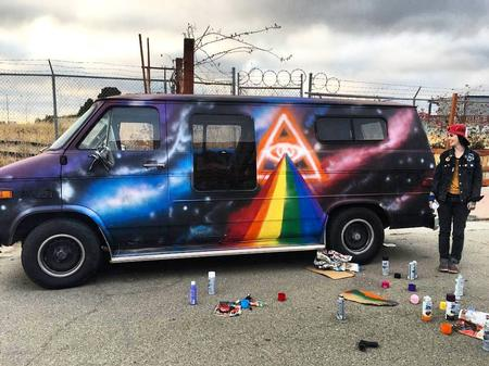 Haley Adams - Van I painted