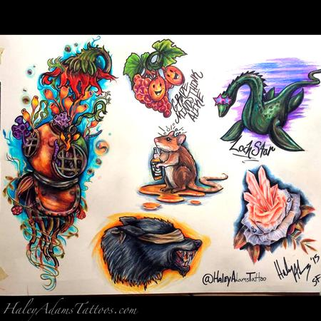 Haley Adams - Tattoo flash