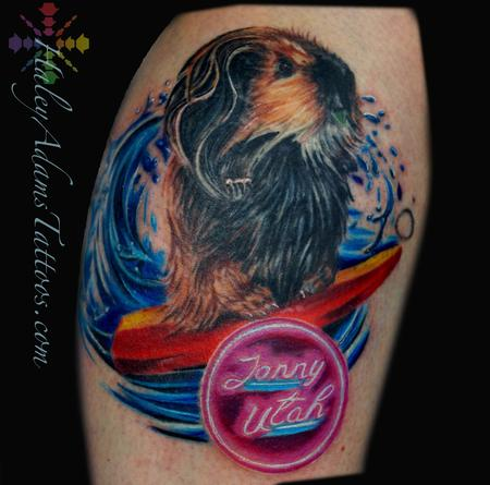 Tattoos - SURFING GUINEA PIG TATTOO - 109363