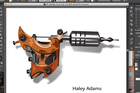Haley Adams - illustration of tattoo machine