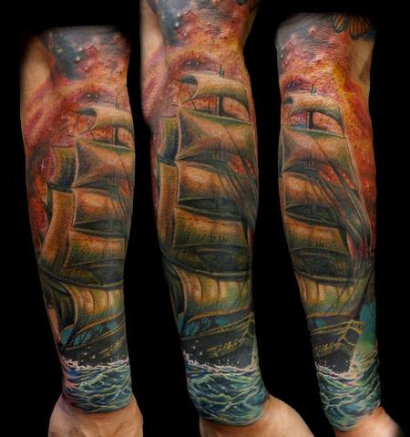 Haley Adams - ship tattoo