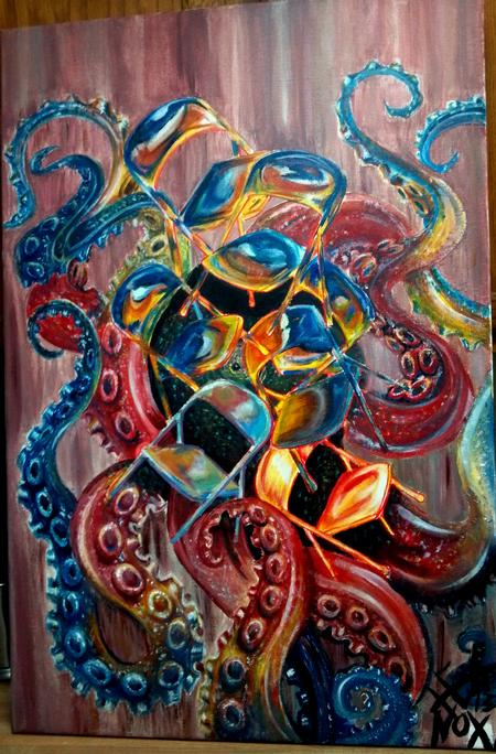 Tattoos - folding chair octopus painting - 73892