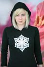 C109 Black Crystal Fitted Hoody Michele Wortman