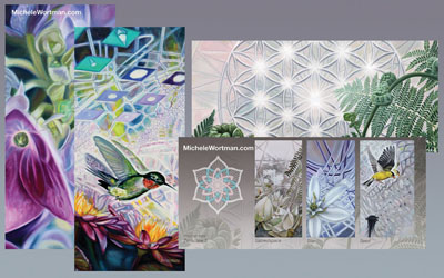 Michele Wortman 2014 card set and double CD packag