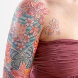 Tattoos - Jenn flower bodyset - 71346