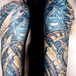 Tattoos - Bio Mech Around Demon Sleeve - 13865