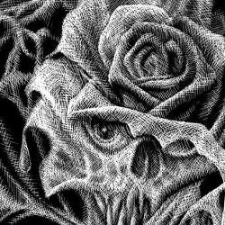 Tattoos - Bret Zarro: Cobweb Rose (detail) - 77561