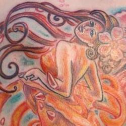 Tattoos - Mucha inspired back shoulder - 71371