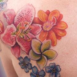 Tattoos - Pirkko flower backset - 71372