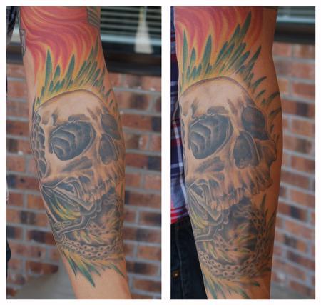 Tattoos - Bike Parts Skull - 68054