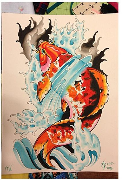Tattoos - Koi Fish - 101529