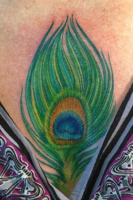 Tattoos - Peacock Feather - 76111