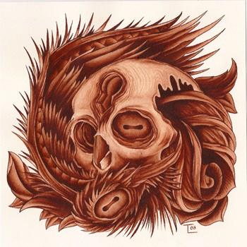 Todd Lambright - Skull Rose and Wing