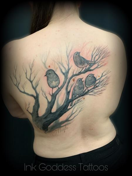 Tattoos - Birds on Tree Branch tattoo by Haylo  - 141200