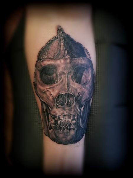 Tattoos - Gorilla Skull Tattoo by Haylo  - 141125