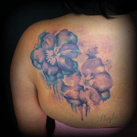 Tattoos - Watercolor Larkspur By Haylo - 141348