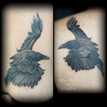 Tattoos - Raven Matching tattoos by Haylo  - 141196