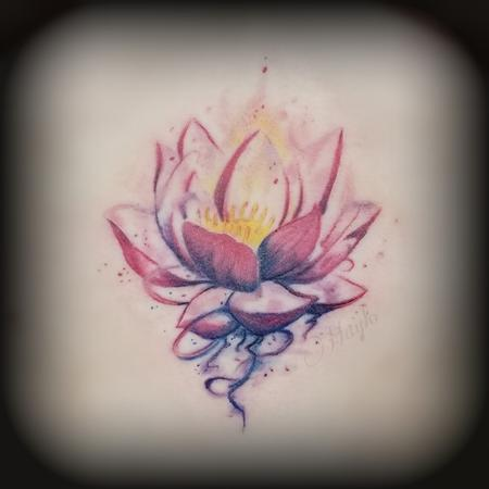 Tattoos - Lotus watercolor tattoo by Haylo  - 141146