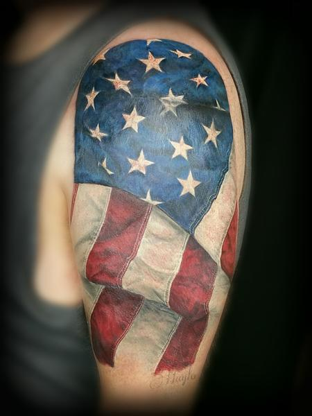 Tattoos - Realistic American Flag Tattoo - 141096