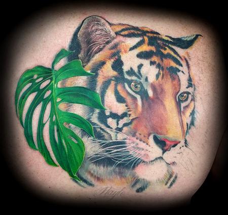 Tattoos - Custom Tiger Back piece in Progression - 125247