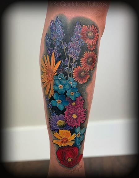Tattoos - Utah Wild Flower leg tattoo by Haylo - 141586