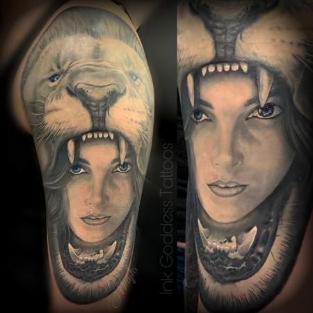 Tattoos - Maiden with Lion headdress by Haylo  - 141186