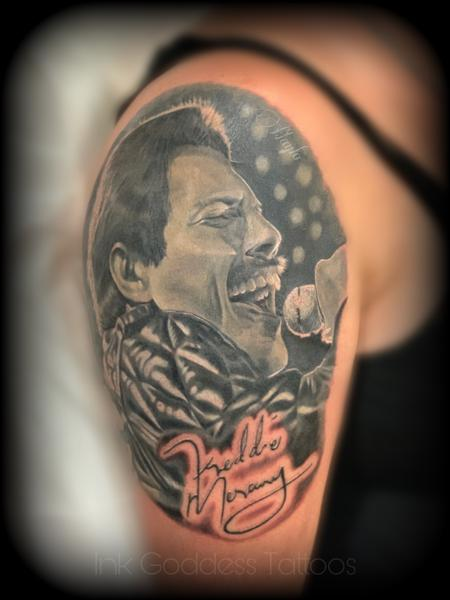 Tattoos - Freddie Mercury portrait by Haylo  - 141218