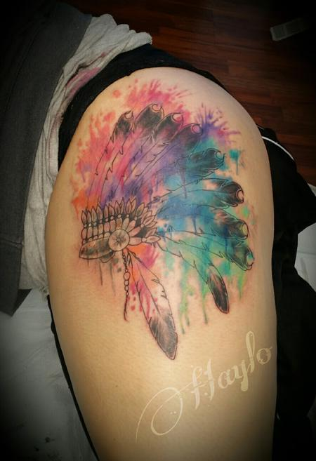Tattoos - Watercolor Headdress by Haylo - 141352