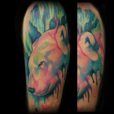 Tattoos - Polar bear watercolor tattoo - 141079