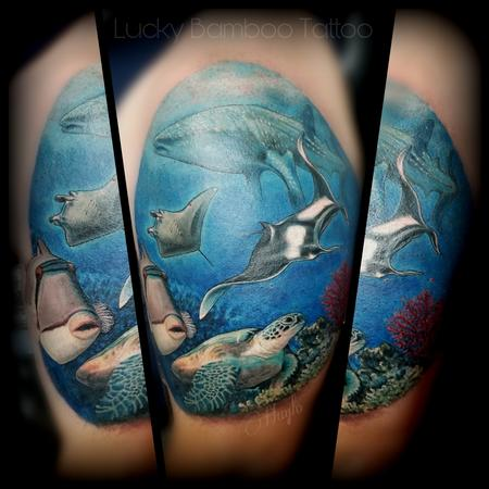 Tattoos - Ocean life tattoo by Haylo - 141121