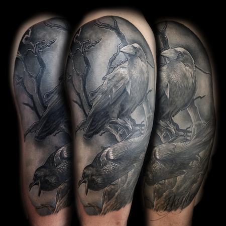Tattoos - Odin�s Ravens tattoo by Haylo  - 141147