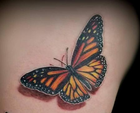 Tattoos - Monarch Butterfly tattoo - 141107