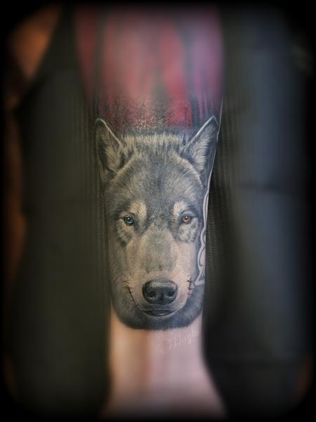 Tattoos - Wolf tattoo by Haylo  - 141126