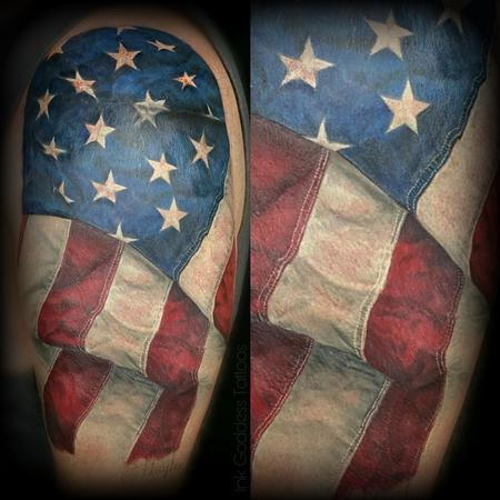 Tattoos - American Flag tattoo by Haylo - 141381
